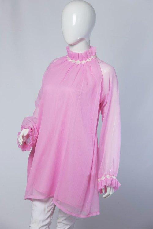 pink net halter top