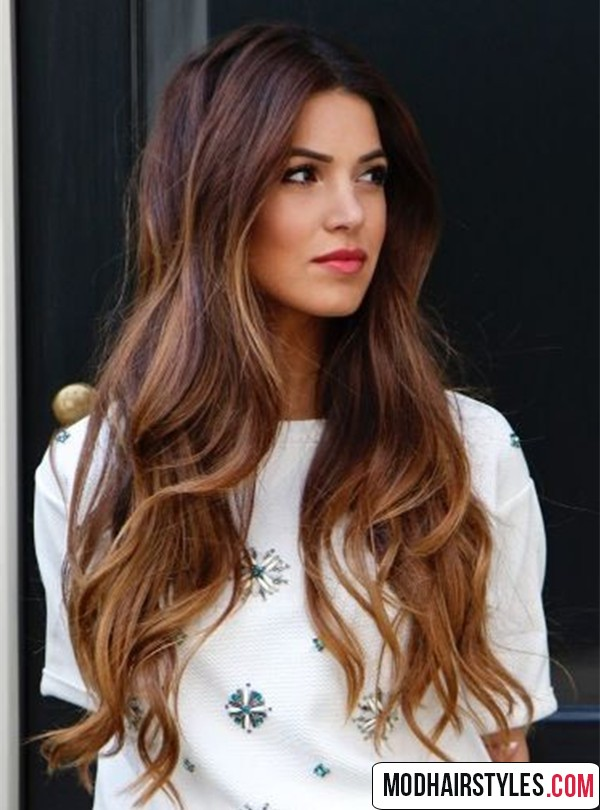 Lob Haircut With Light Brown Balayage Hair Color Ideas Blonde And