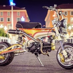 Modifikasi Motor Honda Dax ST70 Ala Drag Bike