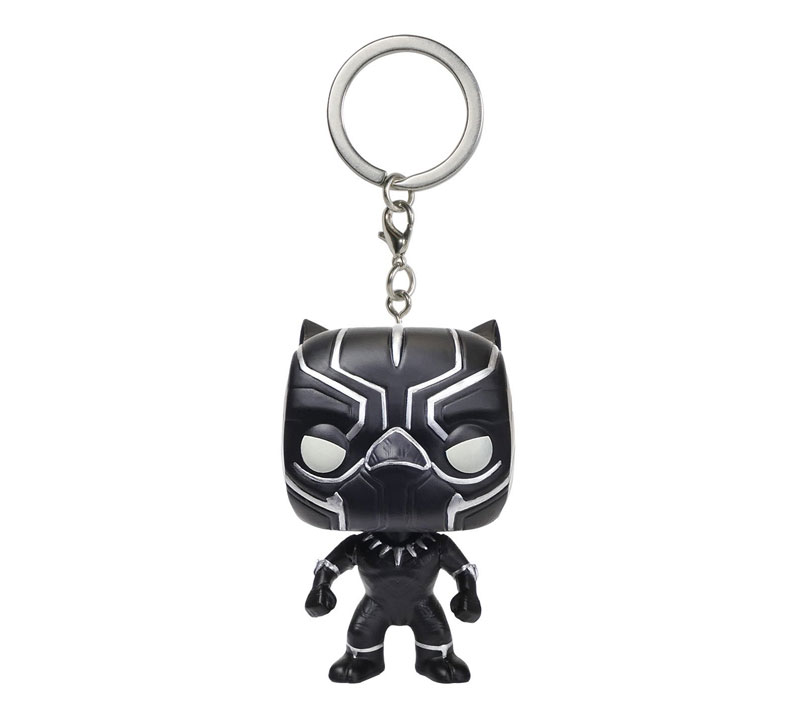 Funko POP Keychain: Captain America 3: Civil War Action Figure, Black Panther