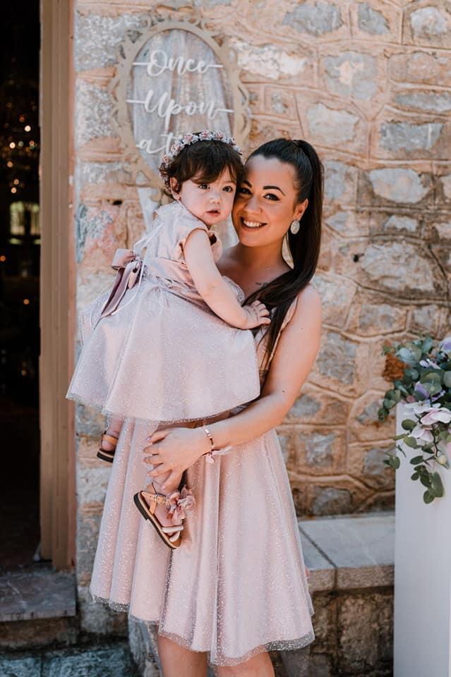 Φόρεμα για βάπτιση μαμάς και κόρης