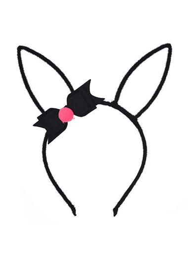 Modlily Rabbit Ears Bowknot Plush Easter Headband - One Size