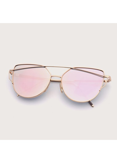 Modlily Metal Detail Cat Eye Frame Sunglasses - One Size