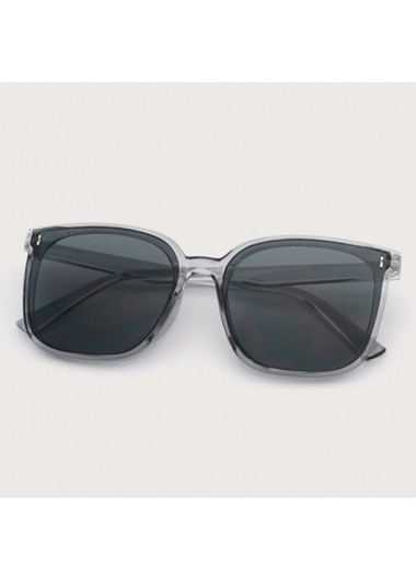 Modlily 1 Pair Square Frame Solid Sunglasses - One Size