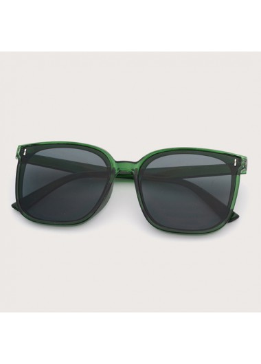 Modlily TR Cat Eye Frame Green Sunglasses - One Size