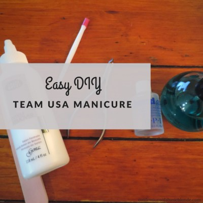 Easy DIY Team USA Nails