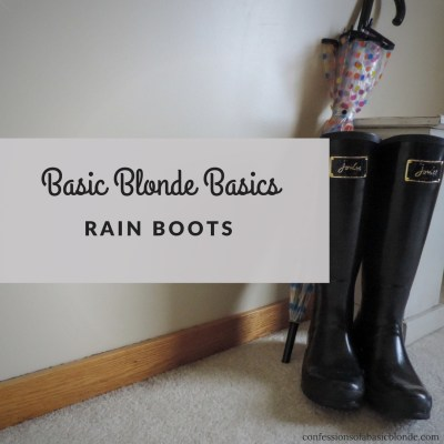 Basic Blonde Basics – Rain Boots
