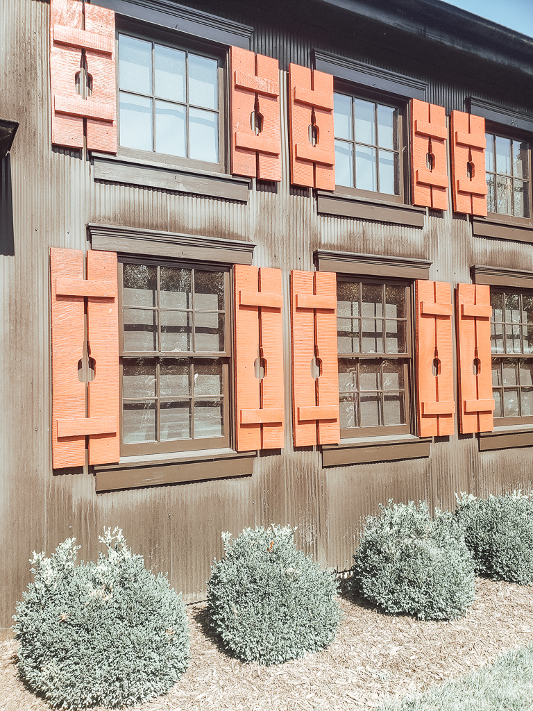 Shutters with outline of Makers Mark bottles