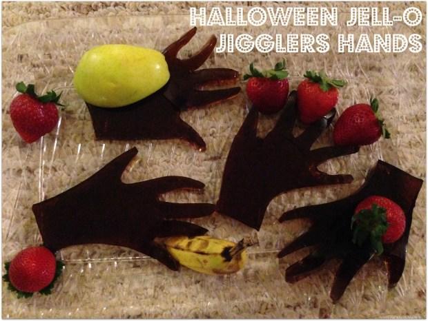 halloween jello jiggles hands