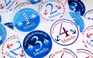 Represent Rhode Island with monthly birthday stickers {Plus Giveaway!}