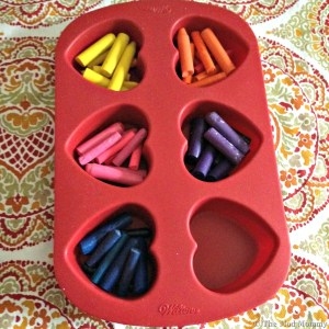 DIY molded crayons