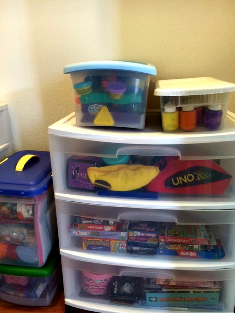 Clear bin storage