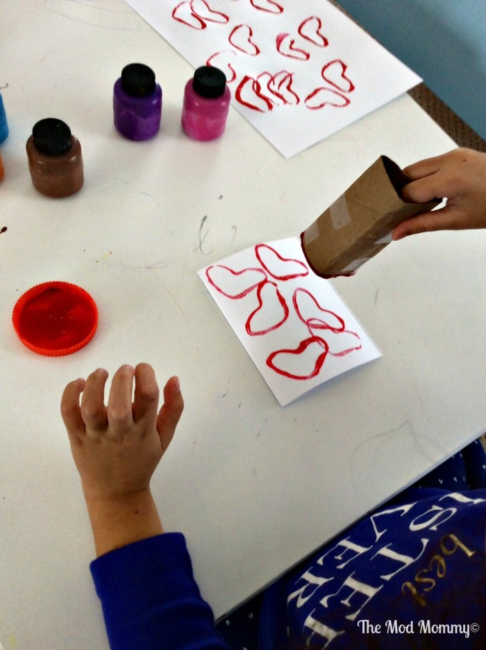 Heart Tube Stamp Craft for Toddlers