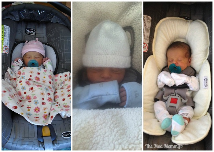 Here are each of my kids  on the day we got discharged from the hospital. About to head home!