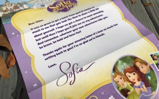 Send Sofia the First a Letter and She'll Write Back