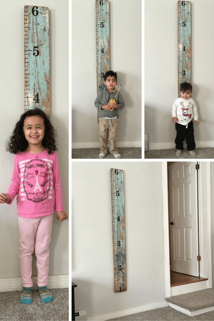 DIY Growth Chart: This is super easy to make and it's such a great idea because now you can measure your children, have a beautiful keepsake and take it with you if you move.