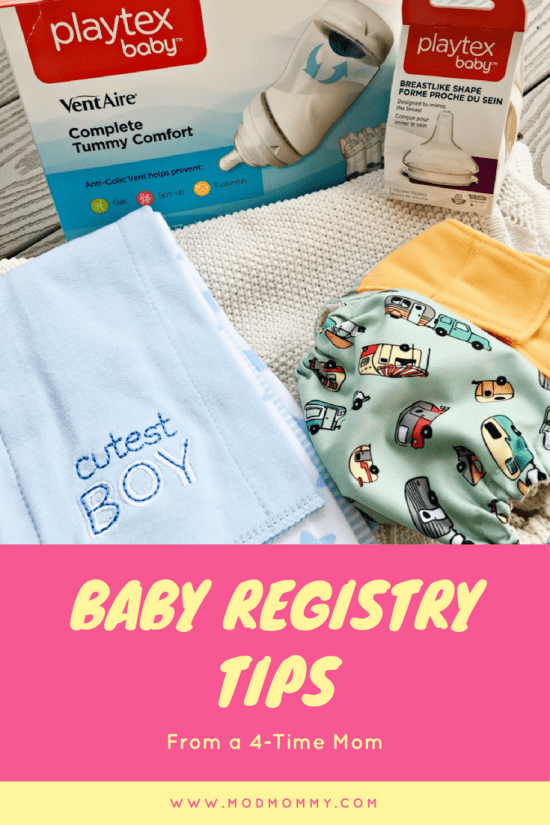 Through the years, my registries have gotten shorter, but more efficient. Here are five tips to keep in mind. #FirstMomentsMadeSimple #ForBetterBeginnings #MomsFirsts #ad