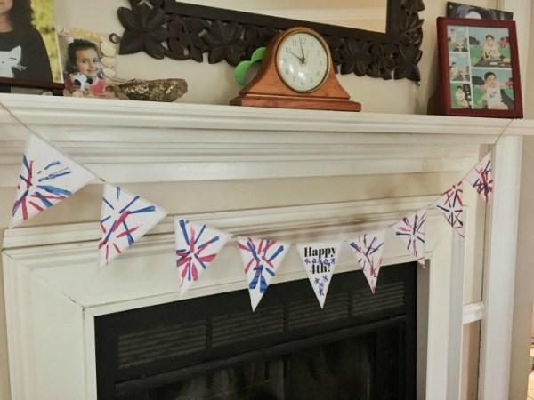 Last Minute 4th of July Kids Crafts: Handprint American Flag and Firework Banner