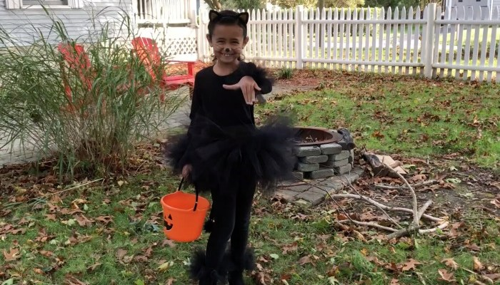 Simple DIY Black Cat Halloween Costume