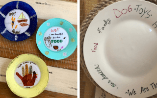 DIY Thankful Plates for Thanksgiving: 2 Ways