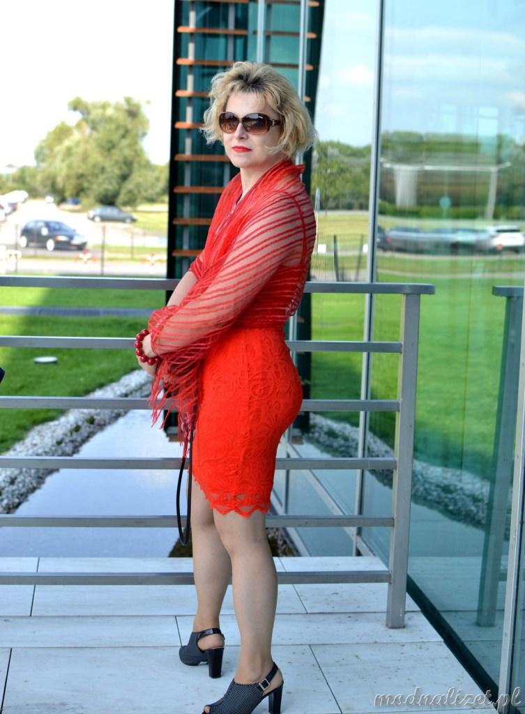 Seksowna czerwień i mini sukienka