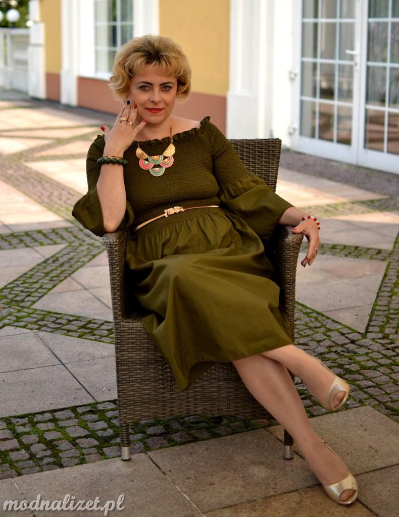 Oliwkowa sukienka Modenj Lizet