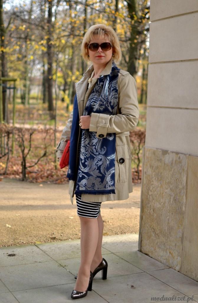 Modny jesienny płaszcz