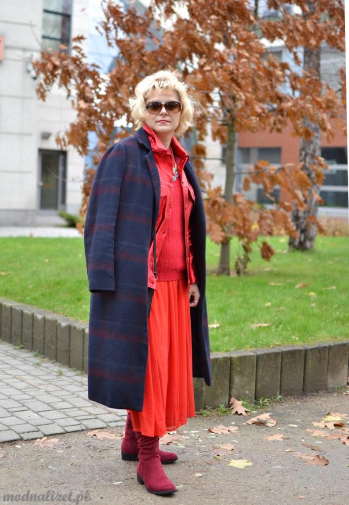 Płaszcz w kratę Modna Lizet