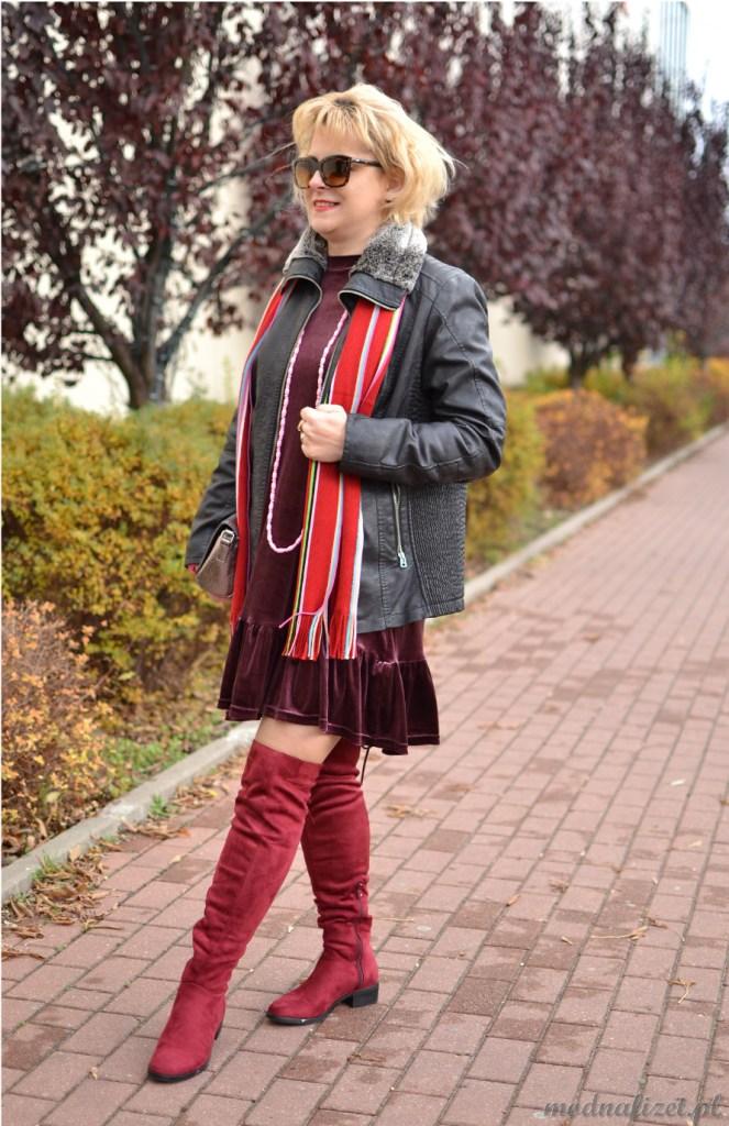 Sukienka w kolorach jesieni