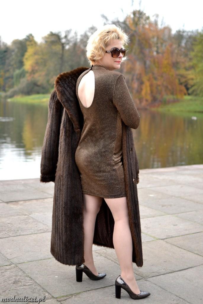 Futro i seksowna sukienka