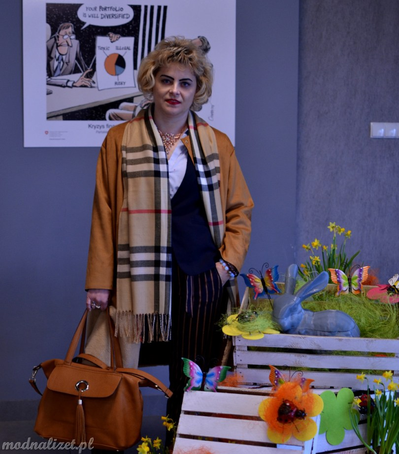 Modna Lizet wiosenny płaszcz