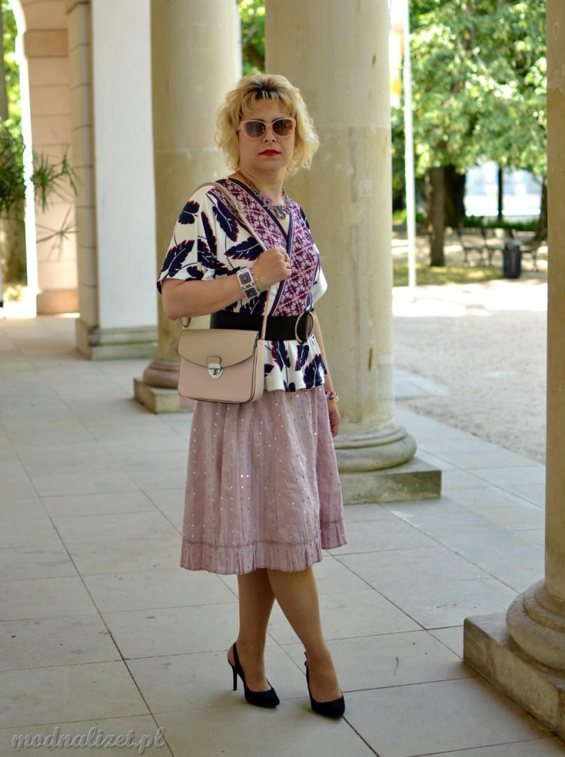 Spódnica i bluzka Modna Lizet