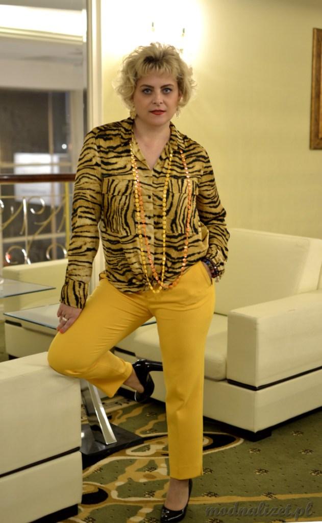 Elegancka tygrysia stylizacja