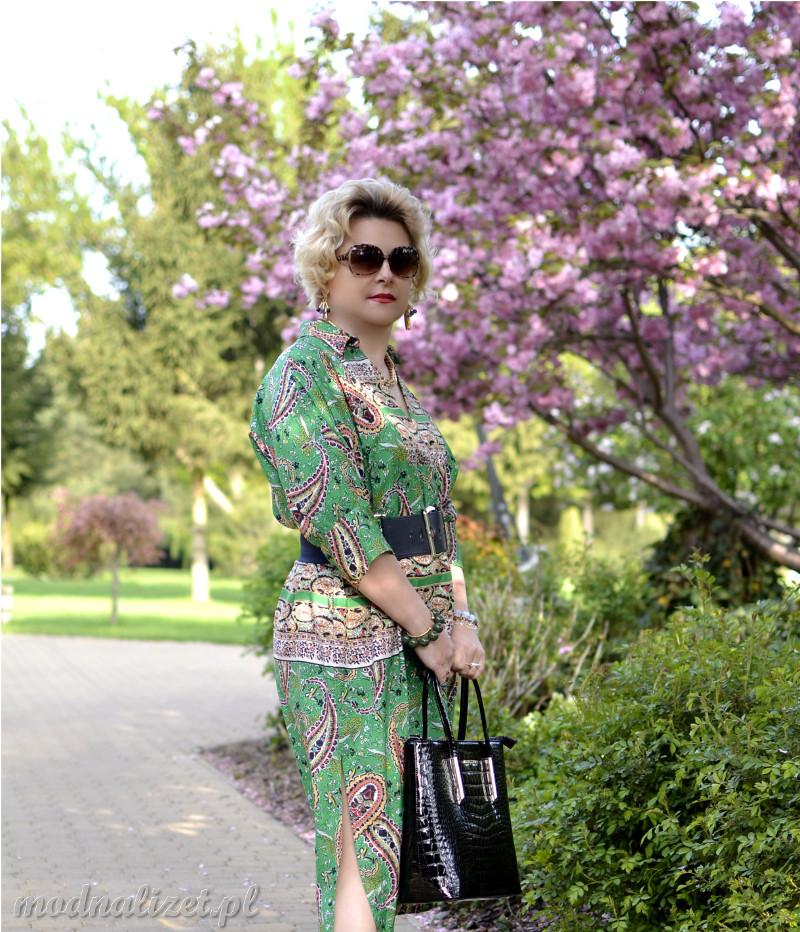 Sukienka klasyczna zielona