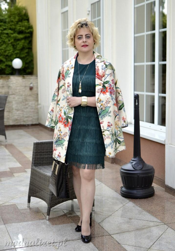 Stylowy płaszcz i elegancka sukienka