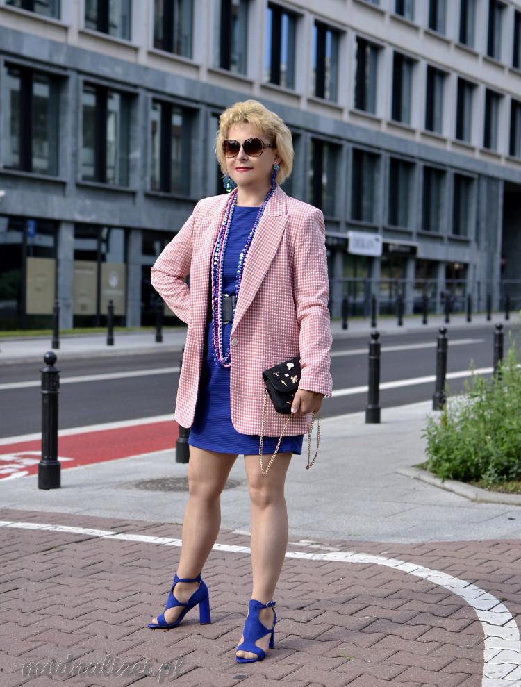 Modna kobaltowa sukienka