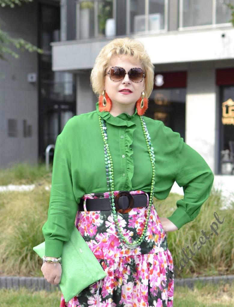 Damska zielona koszula