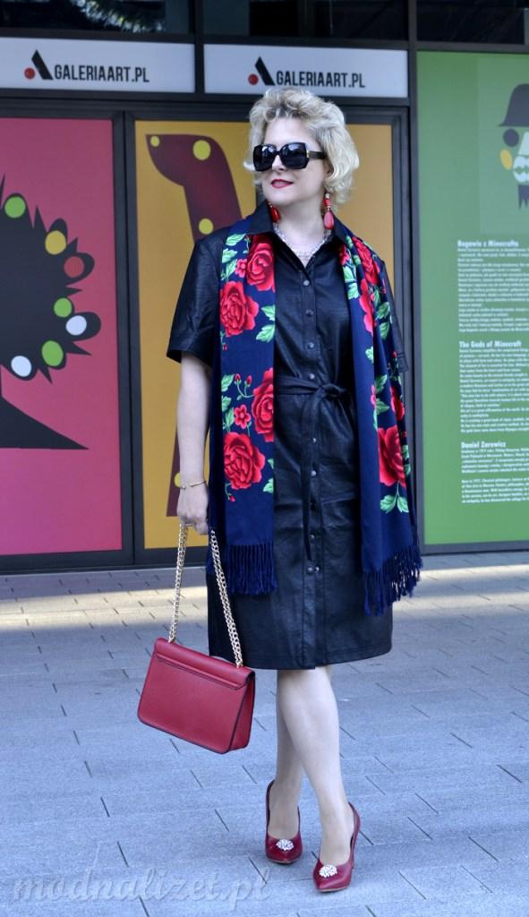 Skórzana sukienka Reserved