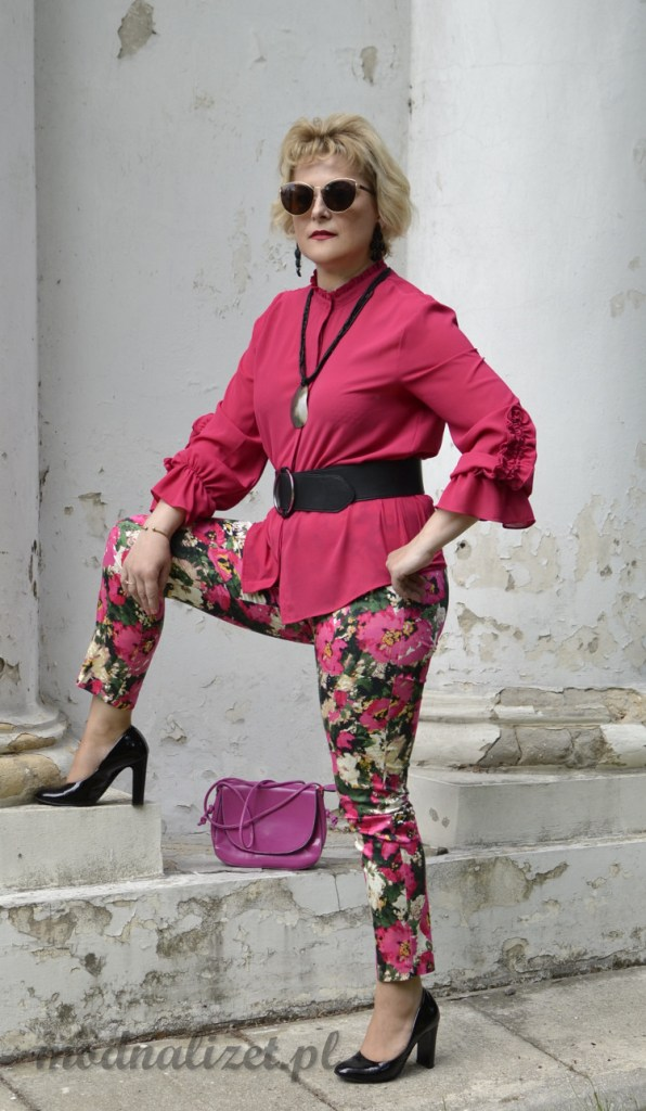 Spodnie i bluzka w kolorze