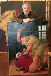 Botero with Abu Ghraib painting