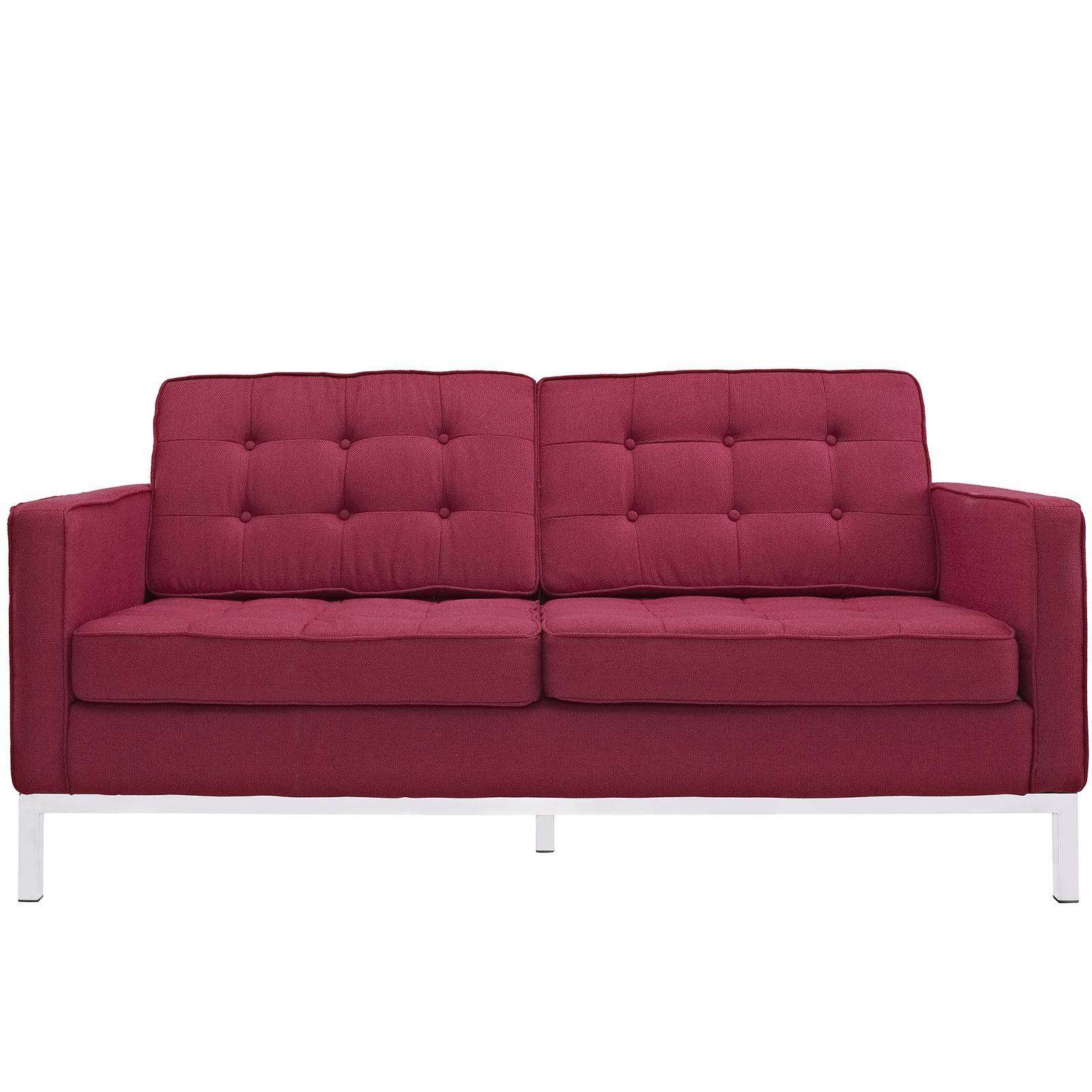 Florence Knoll Style Loveseat Couch