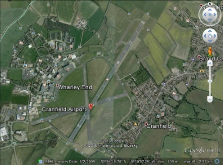 cranfield airport google earth