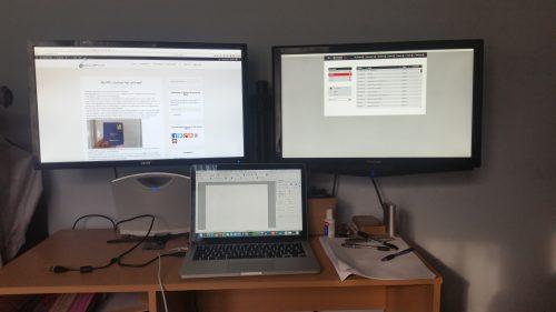 ATPL desk set up