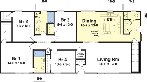 17 best images about interest homes floor plans on 4 for Raised ranch floor plan