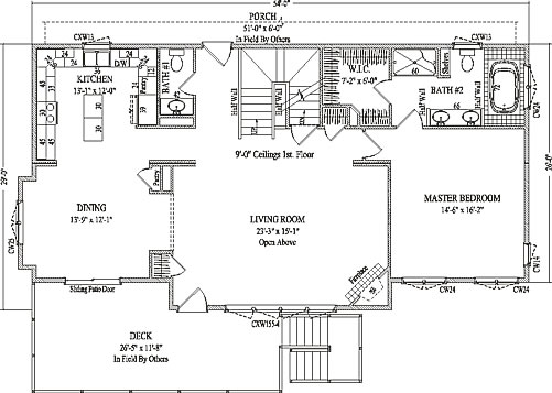 2 Story Open Floor Plan Homes