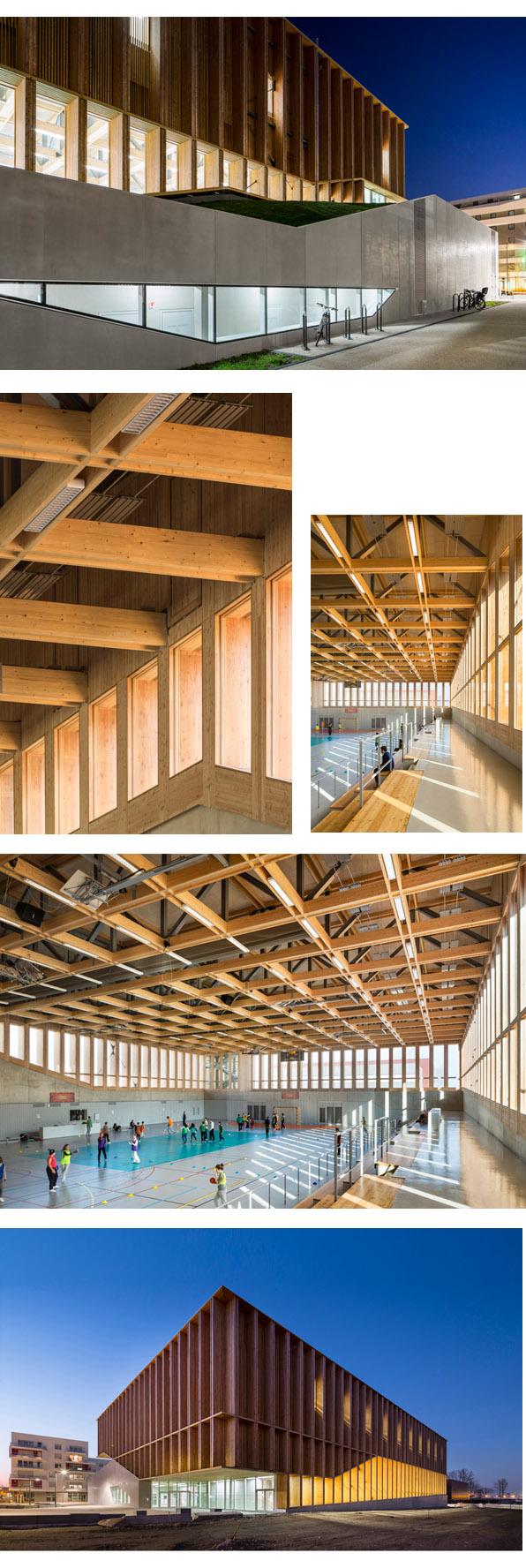 volumen y urbanismo arquitectura architecture modusvivendiarquitectura zundel cristea gimnasio estrasburgo