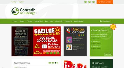 conradh na gaeilge website 2014