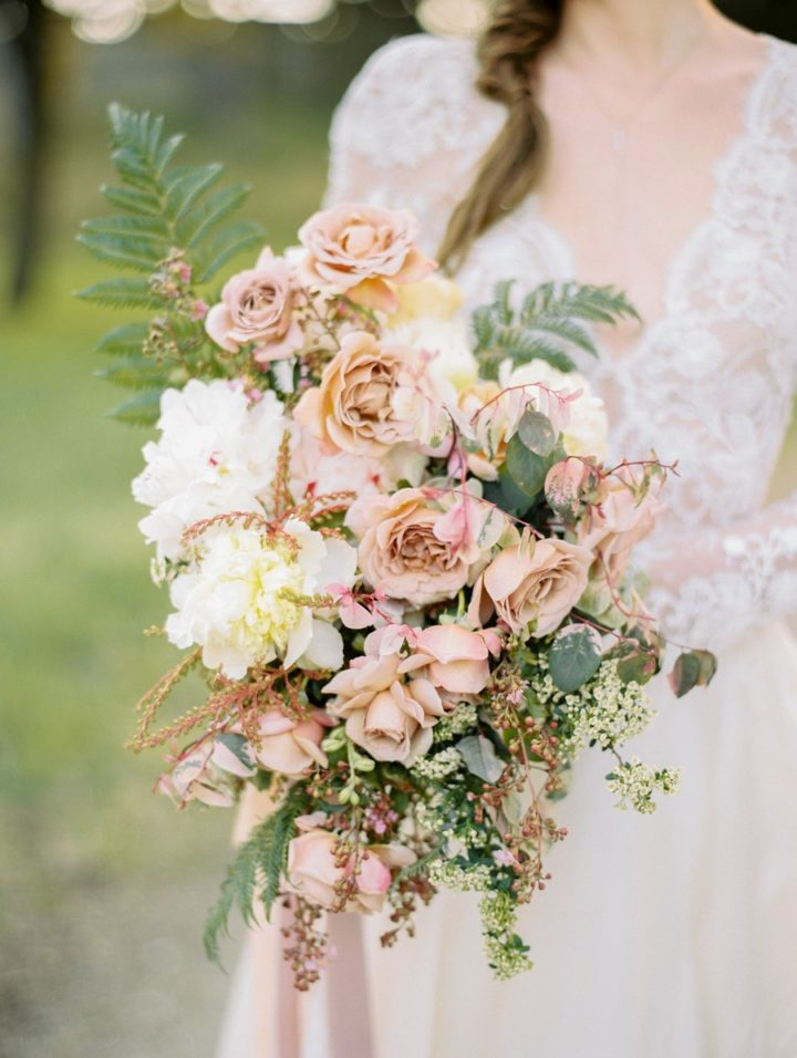 Stunning Mauve And Gold Outdoor Wedding Inspiration Shoot