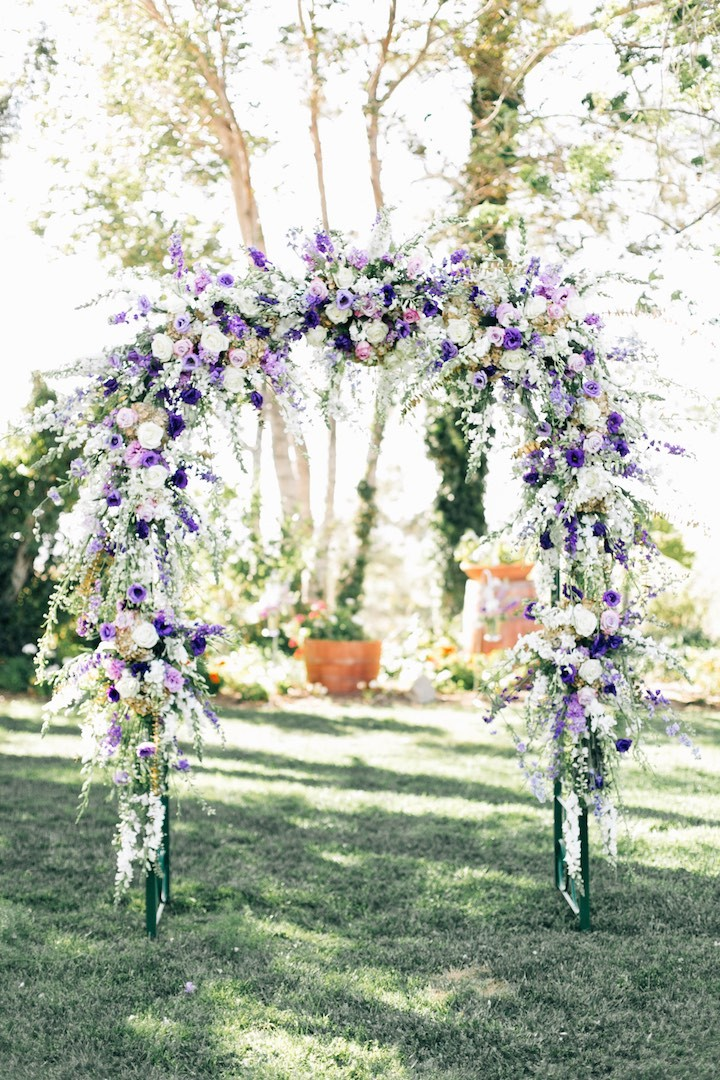 Purple And Silver Decor Winery Wedding Modwedding