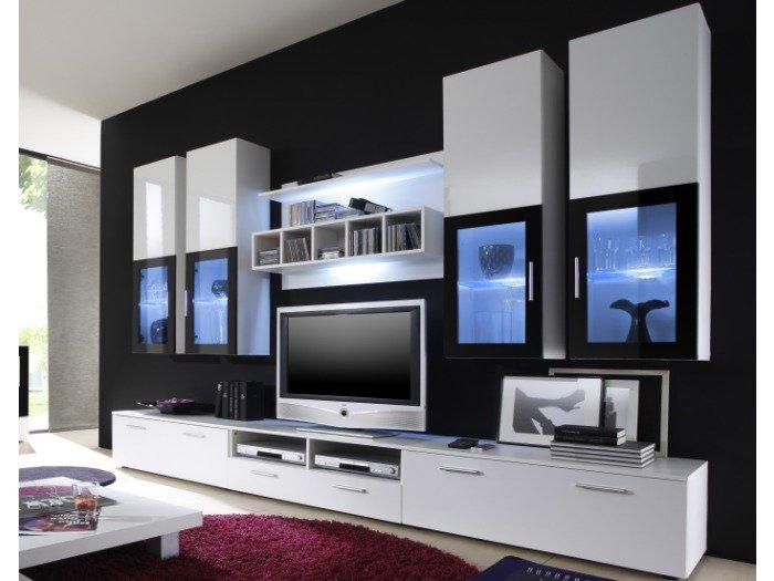 wohnwand wohnzimmer ideen komplett